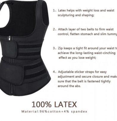 Latex waist trainer