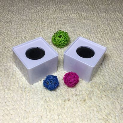 ABS Mic Microphone Interview Square Cube Logo Flag Station 39mm Hole WH