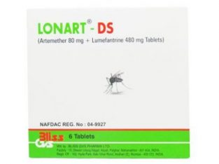 Lonart Ds 6 Tablets – Severe Malaria Resistant