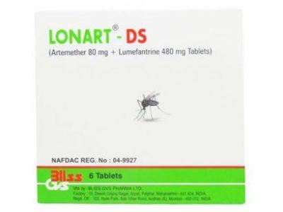 Lonart Ds 6 Tablets – Severe Malaria Resistant