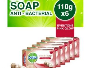 Dettol Soap Pink Glow – 110g (Pack Of 6)