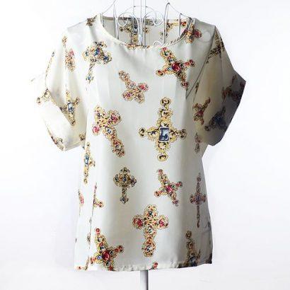 Longo Women Fashion Casual Chiffon Blouses