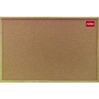 NOBO OAK TRIM CORK BOARD 450X600MM