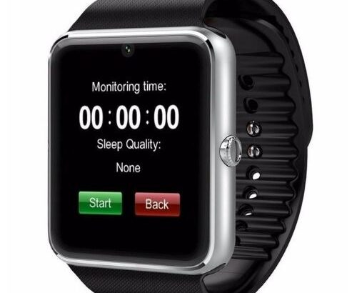 GT08 Blood Pressure Wrist Watch Bluetooth Fit Watch Silver