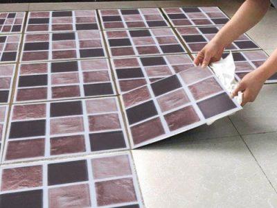 18pcs Mosaic Tile Transfer Stickers Bathroom Kitchen DIY Home