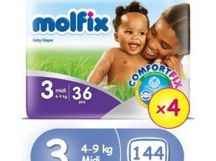 Molfix ComfortFix Diapers, Size 3 (x 4)