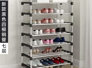 Multifunctional, Multilayer Stainless Steel Shoe Rack