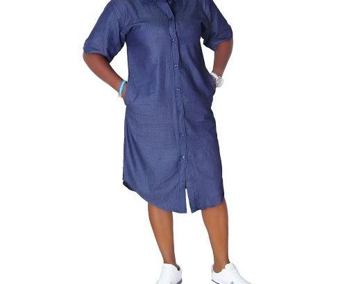 Ladies Shirt Denim Jeans Gown