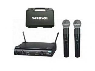 Shure Professional Wireless Microphone With Two Handle Mics