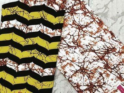 Ankara -, 6 Yards, Yellow, Black, Brown, white, multicolor