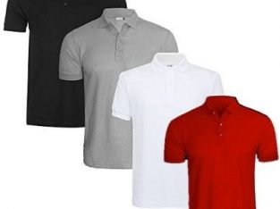 4-In-1 Quality Men's Polo T-Shirts – Grey/White/