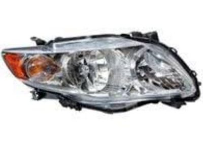 Toyota Right Hand Headlamp Corolla 2009
