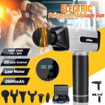 Electric Personal Percussion Massage Handheld Deep Muscle Massager 110V-240V