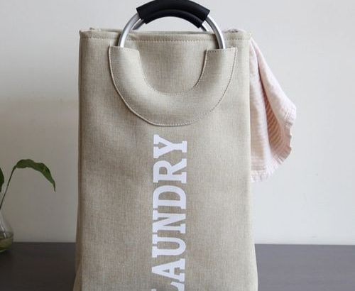 Laundry Bag With Aluminum Alloy Hand Storage Bag