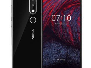 Nokia Refurb X6 (6.1 Plus) 5.8-Inch (4GB, 64GB ROM) 3060mAh, 4G LTE Smartphone – Black