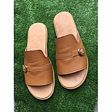 Men's Leather Palm Slippers