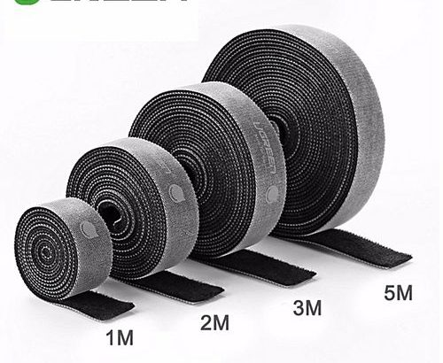 Ugreen 3Meter Cable Ties Reusable Cable Straps Hook And Loop Cord Ties Fasteners For HDMI Cable, Lig
