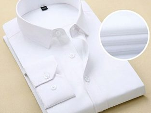 Men's Shirt Long Sleeve Shirt – White