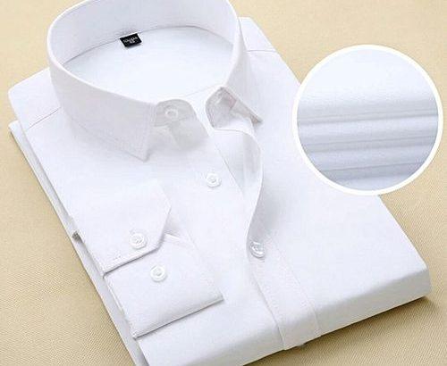 Men's Shirt Long Sleeve Shirt – White