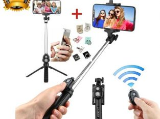 New Bluetooth Remote Controller Hand-held Selfie Stick Tripod.