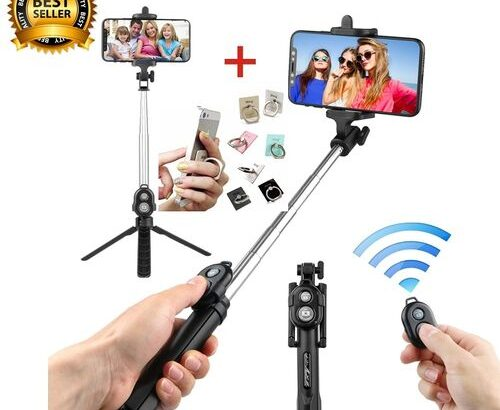 New Bluetooth Remote Controller Hand-held Selfie Stick Tripod.