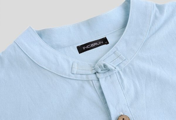 Summer Short Sleeve Linen Vintage Shirts