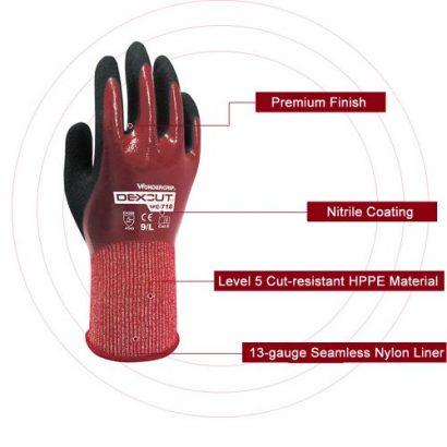 Wonder Grip Level 5 HPPE Cut-resistant Gloves Ga