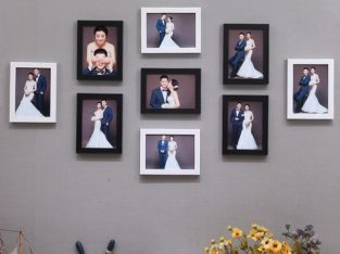 Photo Frame Set 9PCS Black+white