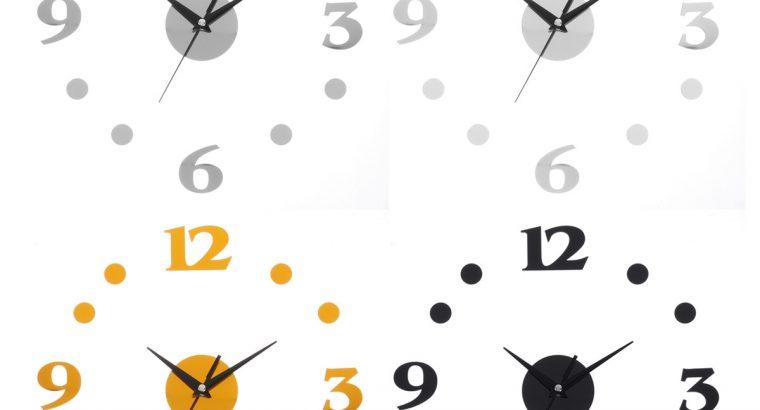 3D Wall Clock Quartz Movement Hands DIY Decor