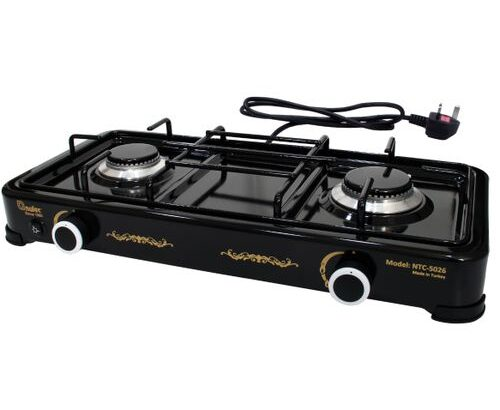 Nulec 2-Burner Auto Ignition Table-Top Gas Cooker