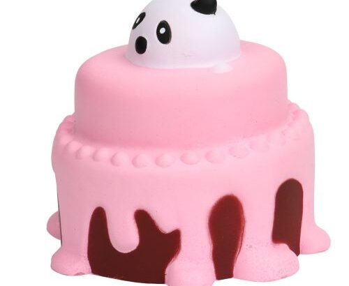 Squeeze Cake Squishy Slow Rising Cream Scented Decompression Toys-Pink