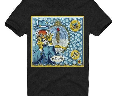 E1Syndicate Men T Shirt Albert Hofmann Bike Ride Lsd Lsa Mdma Dmt Salvia Holzrosen A Cotton Tee