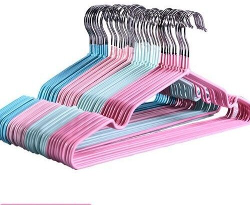 Non Slip Children Clothes Hanger Pink And Blue – 20pcs