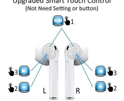 I12 TWS Wireless Earphone Bluetooth 5.0 Super Bass White