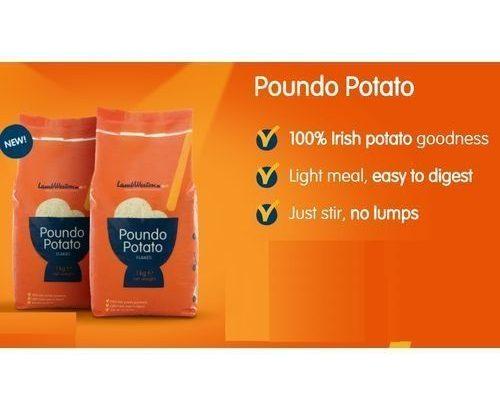 Lamb Weston Poundo Potato Flakes 1KG -1 CARTON OF 10 PACKS