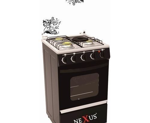 Nexus 4-Burner Gas Cooker GCCR-NX-5055B (3 + 1) – Black