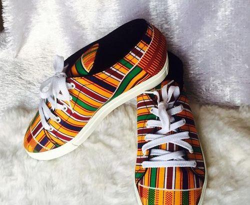 Ankara Sneaker And Bag
