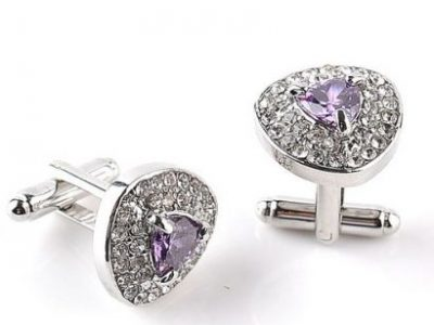 Cufflinks Alloy S925 Silver Plated Zircon For Men Shirts