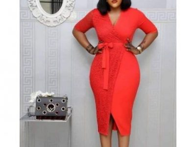 High Quality Female Gown – Red