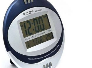 Kadio Digital Wall Clock With Thermometer