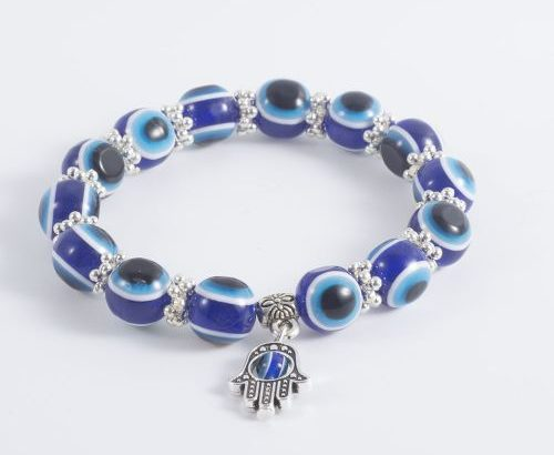 Blue Eyed Bead Fatima Hand Lucky Men And Women Bracelet