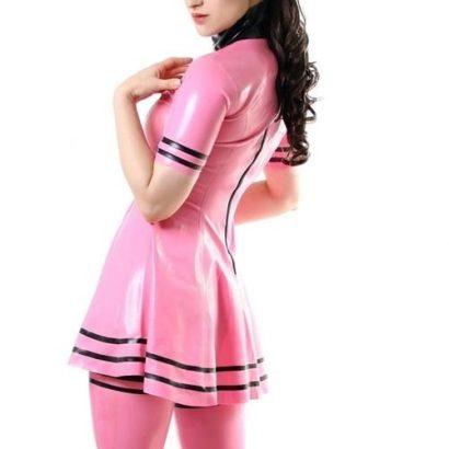 Sexy Women Summer Rubber Dress Party Latex Dress
