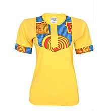 Danami Female Ankara Designed T Shirt With Pocket-