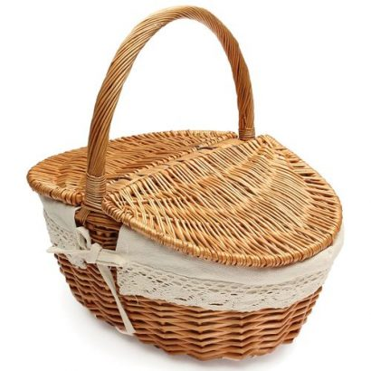 Large Wicker Camping Picnic Basket and Hamper