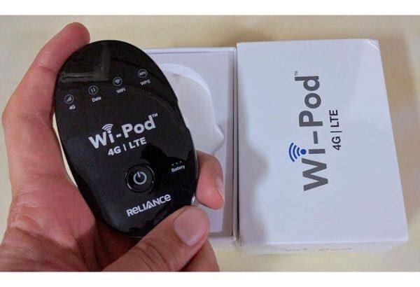 Reliance ZTE Wi-Pod 4G LTE MIFI ROUTER