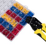Wire Terminals Crimping Tool Insulated Ratcheting Crimper