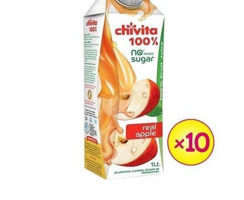 Chivita 100% Apple Juice (1LTR X 10 PCS)