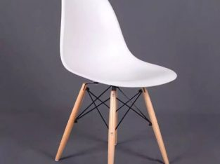 EAMES INSPIRED EIFFEL DSR PLASTIC CHAIR WHITE