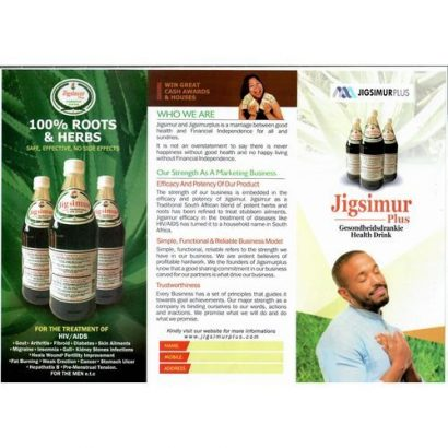 Jigsimur Natural Health Drink 750ml 100% Aloe Ferox(6 Bottles)