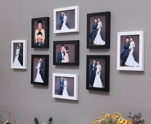 Photo Frame Set 9PCS Black+white